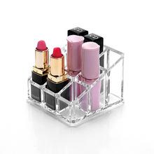 9 siatka stojak na szminki pudełko na szminki etui na szminki przejrzyste pulpit kosmetyki szminka do ust do prezentowania przechowywania biżuterii zegarków stojak na tanie tanio CN (pochodzenie)