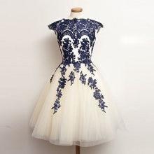 Платье от кутюр с коротким рукавом овальным вырезом короткое