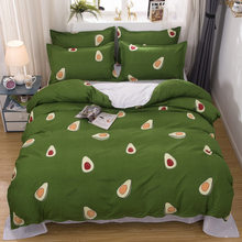 Moda estilo abacate casa capa edredon conjuntos de cama folha plana inverno cheio rei rainha unica 2021