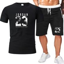 2 peça conjunto de roupas masculinas jordan 23 camiseta shorts verão conjunto curto treino masculino terno do esporte jogging moletom basquete jérsei
