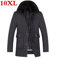 2020 plus size 10XL 9XL winter jacket for men thick warm top quality waterproof zipper clothing for men fashion winter coats man