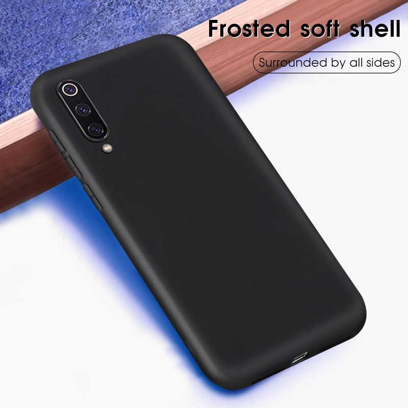 Hitam Matte Phone Cover Case untuk Xiao Mi Mi 9 8 6 Mi 9 Mi 8 Se Lite Pocophone F1 mi A1 A2 Lite 6X 5X Mi X 3 2S MAX 2 3 Merah MI 6 Pro