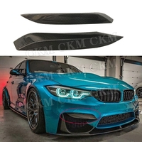 For M3 M4 Carbon Fiber Front Fog Eyebrows Covers Eyelids Trims for BMW 3 Series F80 M3 4 Series F82 F83 M4 Bumper 2012 2017