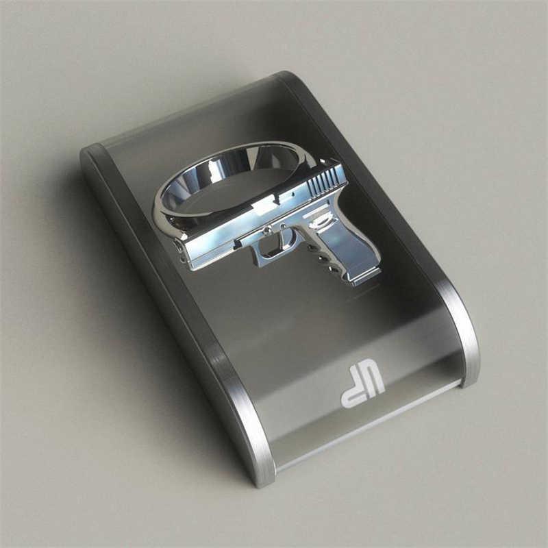 ประณีตเงินปืนเลียนแบบแหวนโลหะผสมปืนแหวนขัดรถจักรยานยนต์คาวบอย BIKER Punk Men Women Cool แหวน