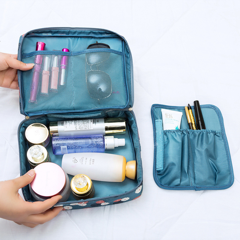 Travel Printing Makeup Bag Big Capacity Dual Use Cosmetic Package Accept Package More Function Travel Accept Packet Handbag