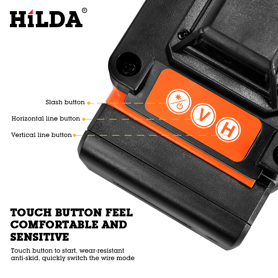 HILDA 16 Lines 4D Self Leveling Laser Level with Buzzing Alarm for Indoor and Outdoor Use 3