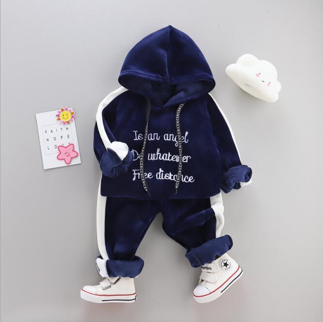 Boys Girls Sport Suit 1-4Y Baby Kids Letters Clothes Children Kids Cartoon Long Sleeve T Shirt Trousers Pants 2pcs/set Clothing