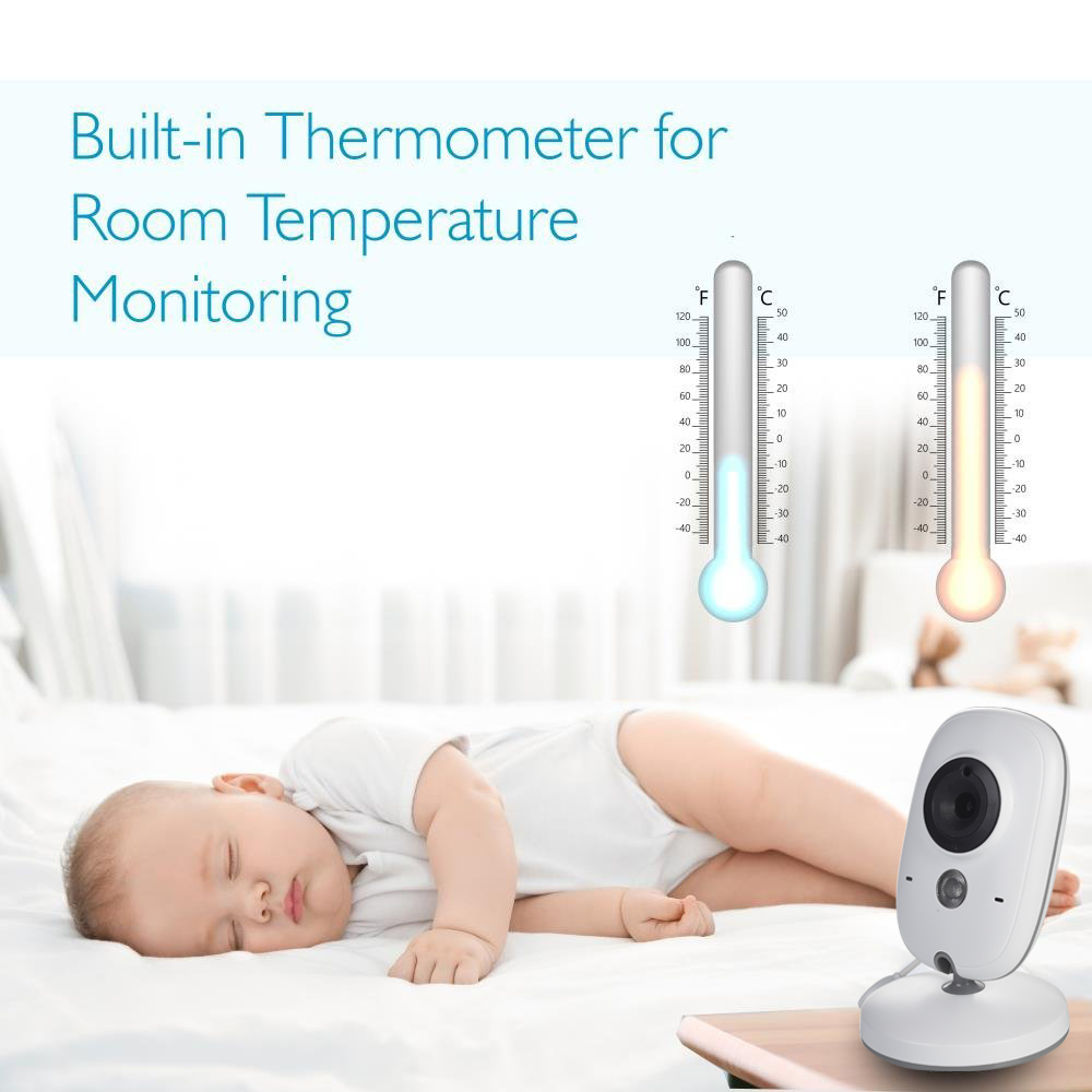 3 Inch Wireless Baby Monitor with Built In Thermometer For Your Child Security 2