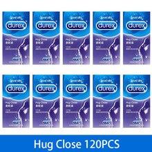 Durex preservativos 12/120 pçs abraço perto ultra fino preservativo para homem pênis galo manga natural látex extra lubrificado condones adulto sexo