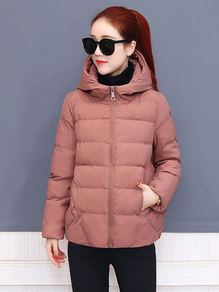 Plus size women winter jacket cotton loose short parkas women outwear designer warm hooded female coat jaqueta feminina DR1192 (6)