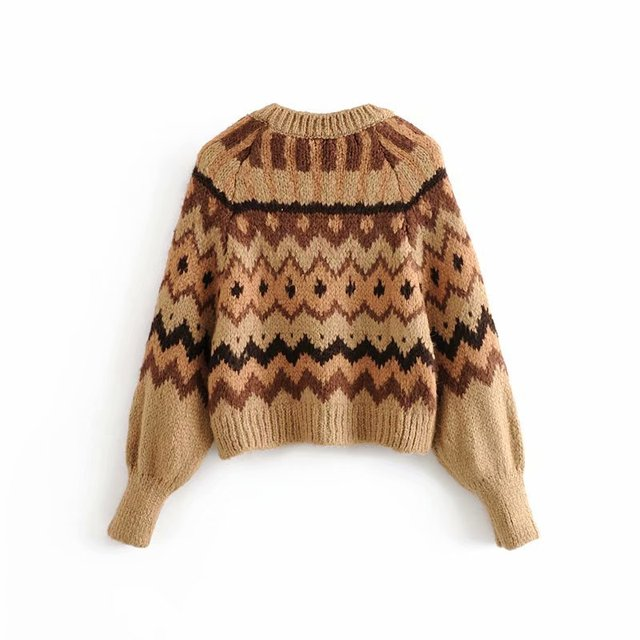 Vintage Style Knitted Sweater 1