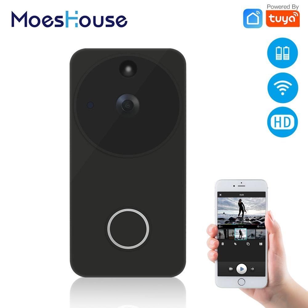 Tuya Smart Life Wireless Smart Video Doorbell Camera Full HD PIR Motion Detection Night Vision Camera
