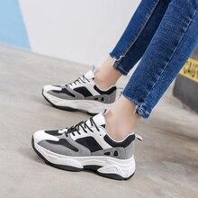 Hot Sale Women Sneakers Fashion Casual Shoes Woman Comfortable Breathable White Flats Female Platform D0066