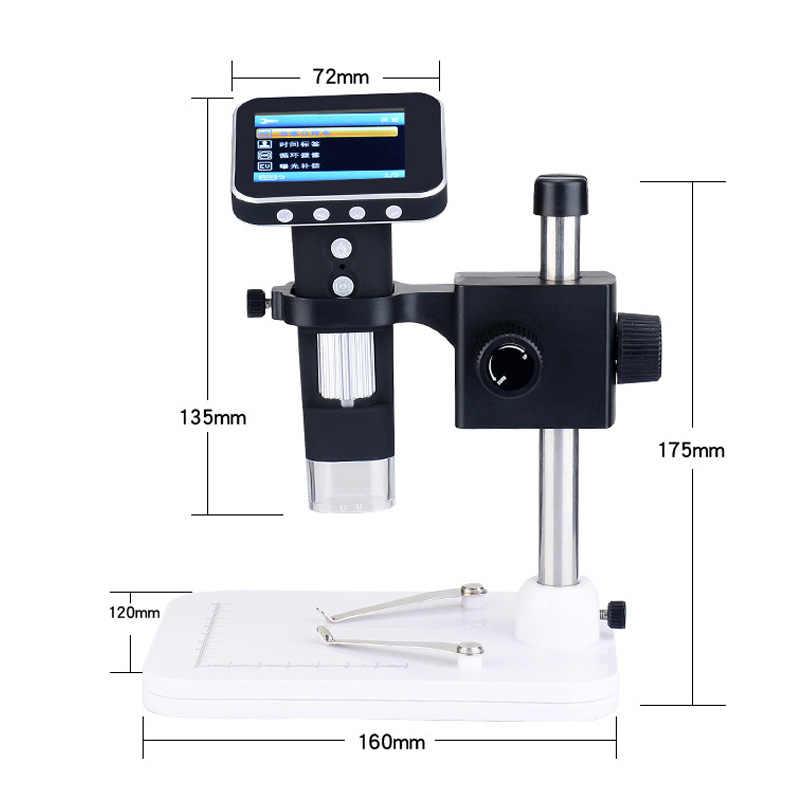 """SANHOOII зум 2.0MP USB цифровой электронный микроскоп светодиодный 2,4 """"ЖК-микроскоп с экраном лупа для ремонта материнской платы PCB"""