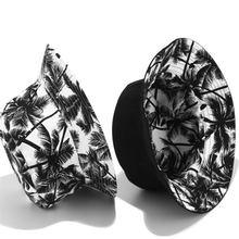 Двухсторонние черно белые уличные шляпы с принтом кокосового