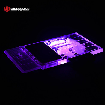 Syscooling Graphics card Water cooling block for MSI GeForce GTX 1060 GAMING X PLUS image