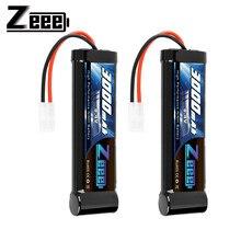 Zeee 2 pièces 8.4V 3000mAh RC batterie avec prise Tamiya haute puissance NiMH batterie pour voiture RC HPI Tamiya Kyosh LOSI associé