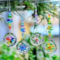 kainai window decoration garden suncatcher hanging crystal suncatcher prisms suncatcher rainbow charm jewelry home decorations