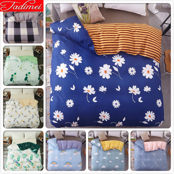 Flower Floral Pattern 1 piece Quilt Comforter Duvet Cover Single Twin Double Queen King Big Size Bedding Bag Adult Kids 180x220