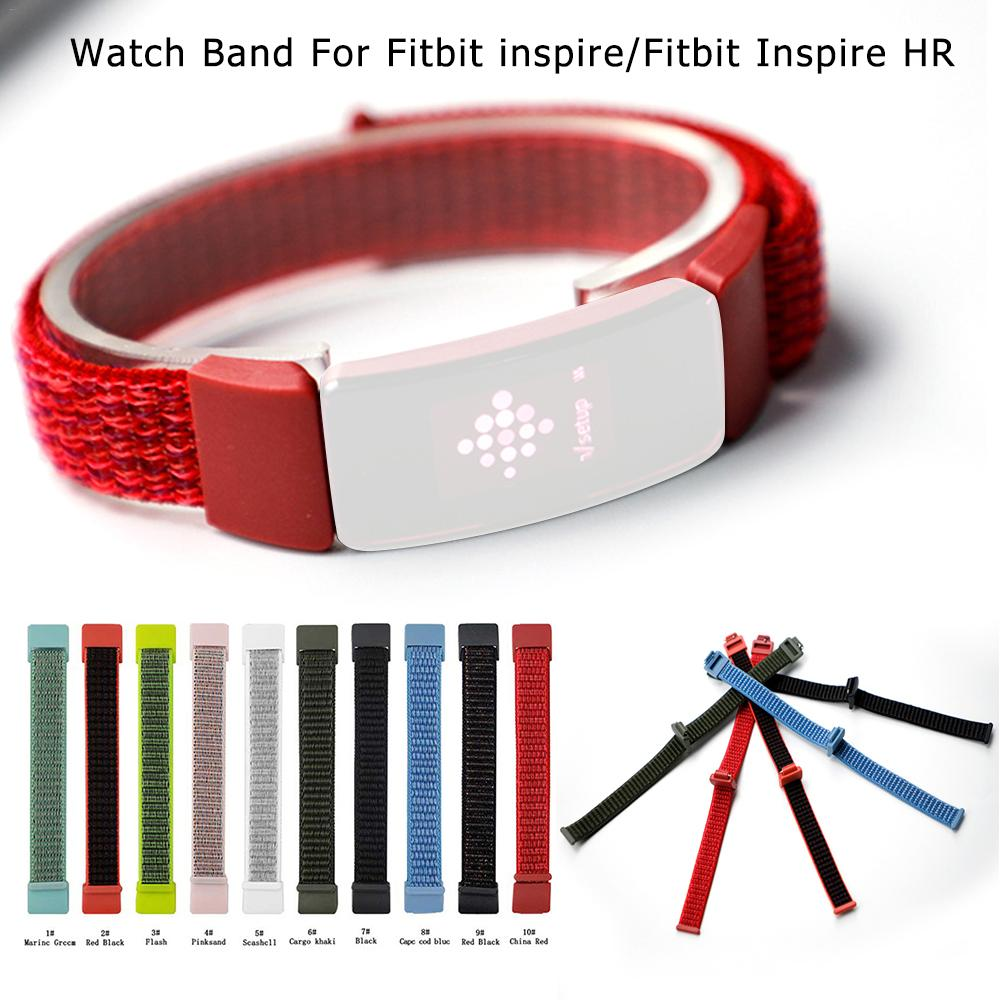 For Fitbit Inspire HR Nylon Hook Loop Watch Band Replacement Wristband #20