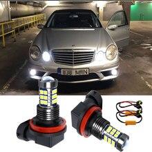 2PCS H8 H11 9006 HB4 LED Fog Light Bulb Canbus Decoders Erro Free For Mercedes Benz