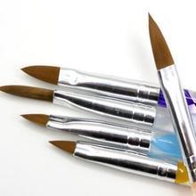 5 шт, пять размеров, высокое качество, профессиональная акриловая жидкость для ногтей, ручка, кисть, УФ акриловый гель для ногтей, пудра