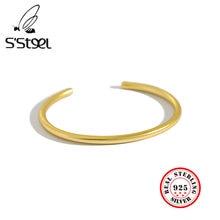 S steel – bracelets en Argent Sterling 990 Pour femmes, bijoux simples ajustables en or Massif 925