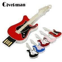 Clé USB 256GB métal collier guitare électrique USB2.0 clé USB 128GB mémoire bâton 16GB 32GB 64GB USB mémoire disque stylo lecteur