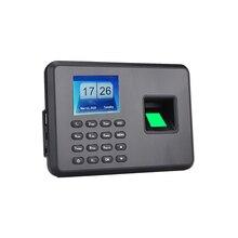 Биометрический пароль отпечатка пальца посещаемость работник проверка-в рекордер 2,4 дюймовый ЖК-экран DC 5V машина посещаемости времени