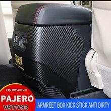 Car-Armrest-Box Pajerov97v93 Mitsubishi Interior V73 Kicker Carbon-Fibre Anti-Dirty Suitable-For