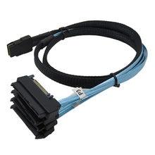 Mini sas interno 36-pino SFF-8087 a 4 sas 29-pin SFF-8482 cabo com 15 pinos sata cabo de núcleo conector de alimentação para disco rígido sas