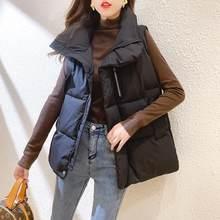 2020 neue Dicke Warme Frauen Herbst Winter Westen Stehkragen Kurze Mode Baumwolle Gefütterte Weste Jacke Ärmellose Weste Weste
