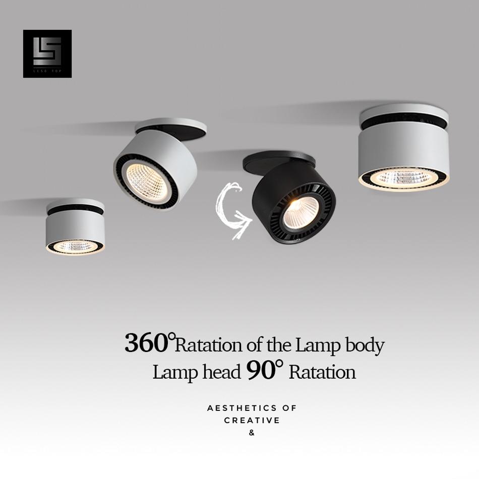 LED Downlight Angle Adjustable LED Spot Light 220v White/Black 10W 15W CREE Chip Corridor Living Room For Indoor Lighting