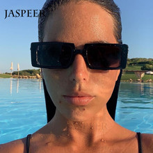 JASPEER Punk Rectangle Sunglasses Women Men Classical Portab