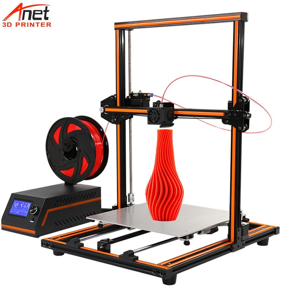 Nova Chegada Águia Anet E12 E16 12864 LCD 3D Printer 300*300*400 Tamanho da Impressão Fácil Montagem DIY módulo de Impressão 3D Tranquilo Impressão