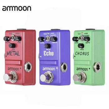 Ammoon-Pedal de efecto para guitarra, distorsión/Retraso/efectos de Coro, accesorios para guitarra