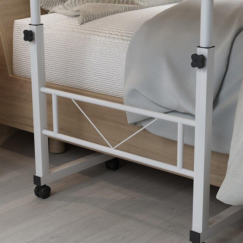 Домашний мобильный стол для ноутбука, прикроватный компьютерный стол, передвижной регулируемый столик для ноутбука, столик для учебы, компьютерная подставка, диван кровать - 6