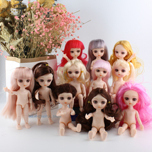 15cm 1pcs Girls Dress Up Dolls 13 Joint BJD Doll Toys With 3