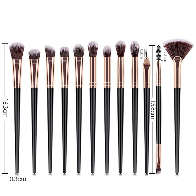 New Makeup Brushes Set Eye Shadow Foundation Powder Eyeliner Eyelash Lip Make Up Brush Cosmetic Beauty Makeup brush Tool Kit Hot 5