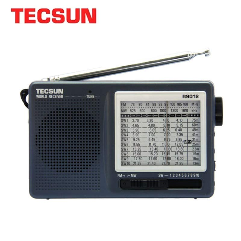 TECSUN R-9012 FM/AM/SW Radio 12 Bands Portable Internet Receiver Radio High Sensitivity Selectivity Low Noise FM/AM/SW Radio