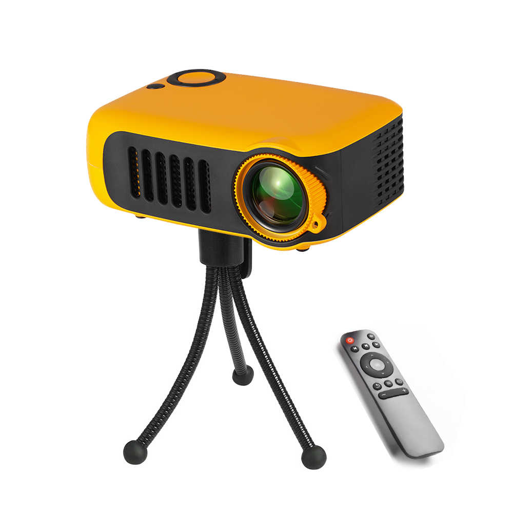 Mini proyector portátil de 320x240P, compatible con 1080P, LCD, lámpara de 50000 horas, Life Home Theater, proyector de vídeo para Power Bank, enchufe europeo/estadounidense