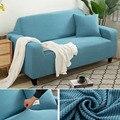 Твердые Цвет для диванов эластичный диванных чехлов для Гостиная утепленные угловой диван, декоративная наволочка на чехлов 1/2/3/4 Seater