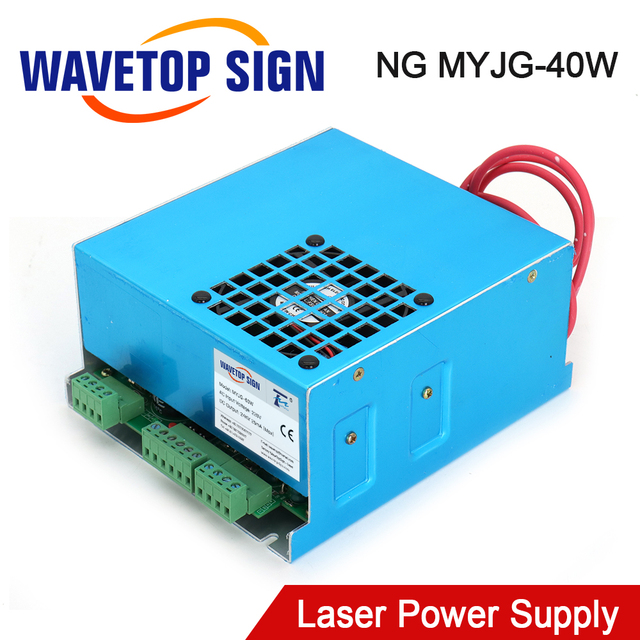 WaveTopSign MYJG 40 CO2 Laser Power Supply 40W 110V/220V For CO2 Laser Tube High Voltage Engraving Cutting Machine