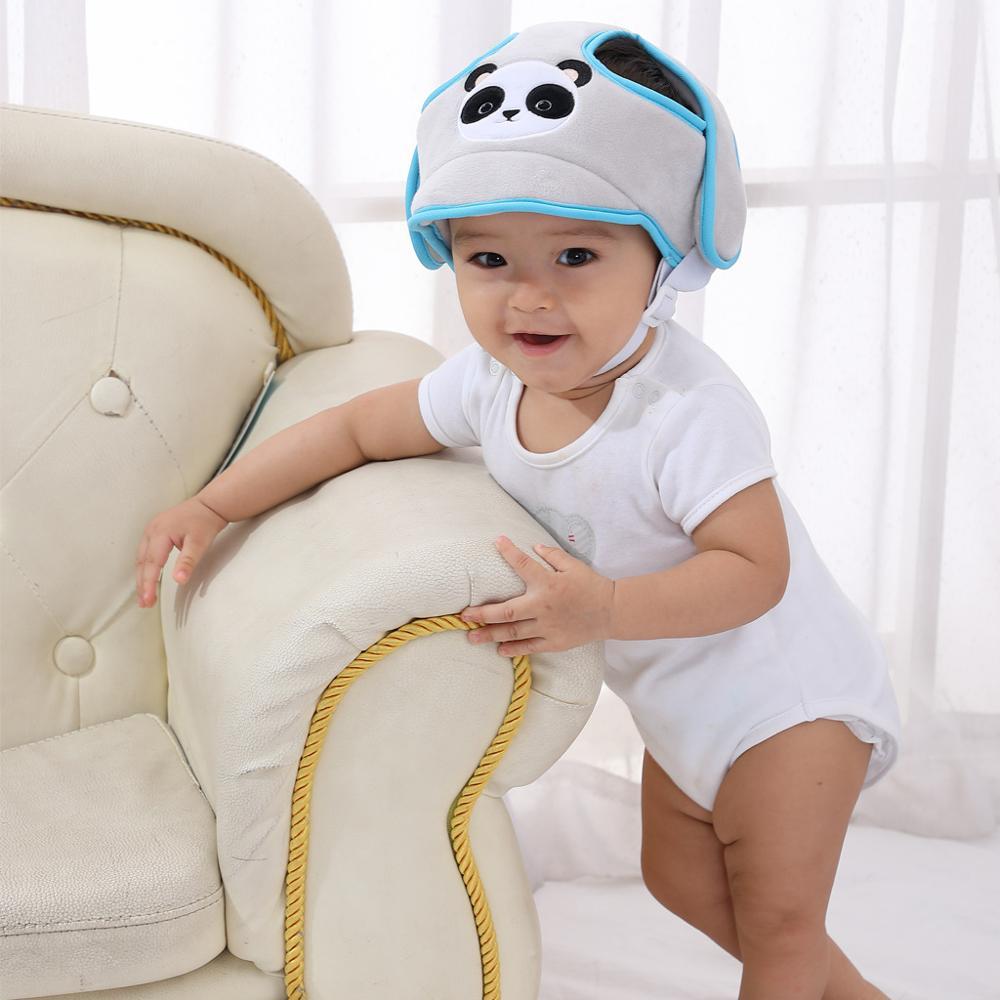 Baby Helmet Cartoon Animals Toddler Helmet Hat Baby Clothing Accessories Safety Protective Bumper Anti-shock Cap Walking Cap