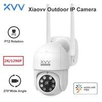 Xiaovv-cámara inteligente P1 2K para exteriores, 1296P, HD, 270, WiFi, Webcam Mi Home, IP66, seguimiento de movimiento humano, cámaras de seguridad IP para el hogar