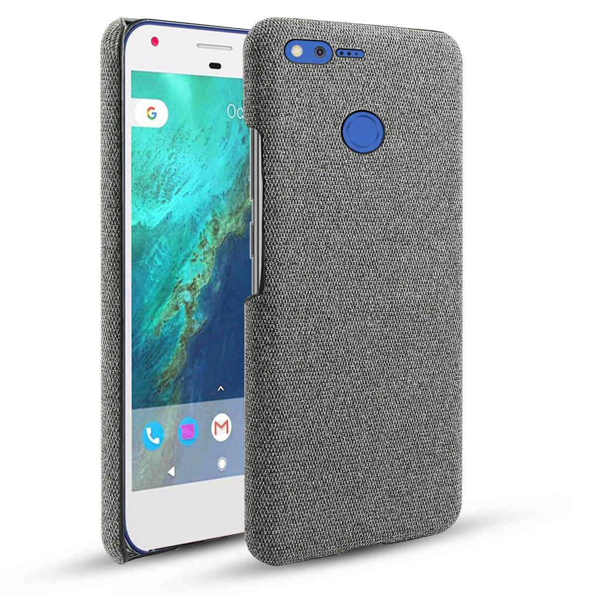 For Google Pixel/Pixel XL Case Retro Woven Fabric Cloth Slim Anti-Scratch Hard PC Cover For Google Pixel XL 2 2 XL 3 3A 4 Case