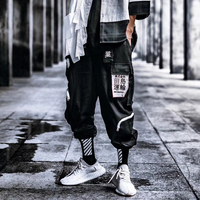 Hip Hop Pants Men 2019 Plus Size Loose Streetwear Mens Casual Pant Boys Side Stripe Design Men's Joggers Trousers