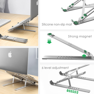Image 3 - LINGCHEN Laptop Stand for MacBook Pro Notebook Stand Foldable Aluminium Alloy Tablet Stand Bracket Laptop Holder for Notebook