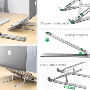 Image 3 - Lingchen portátil suporte para macbook pro notebook suporte dobrável liga de alumínio tablet suporte portátil para notebook