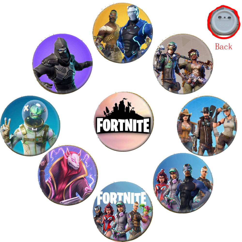 Fortnite Badge Game Fortress Night Brooch Cartoon Pin Accessories for Clothes Hat Backpack Decoration Battle Royale Badges Toys